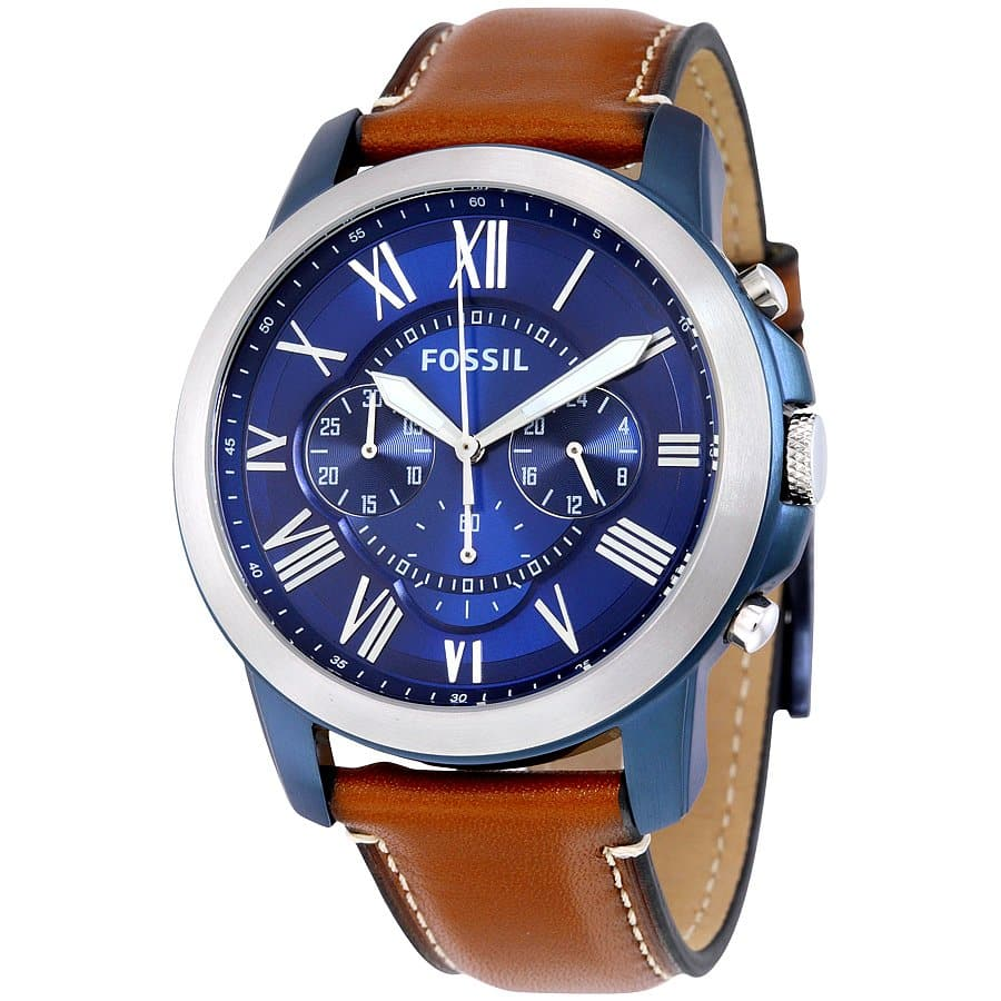 Fossil-FS5268-Grant-Chronograph-Blue-Dial