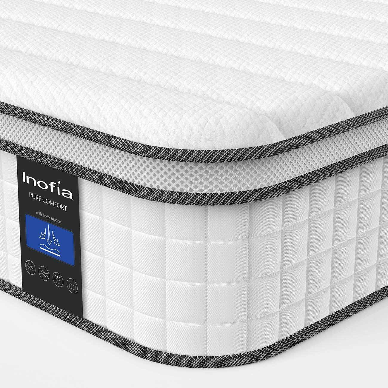 Inofia-Double-Memory-Foam-Sprung-Mattress-10.6-Inch