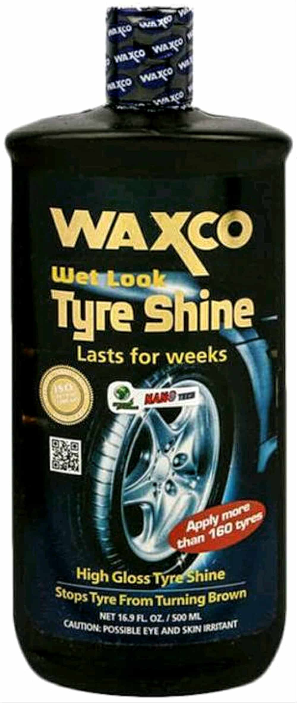 4. Waxco Nano Tech Wet Look Tyre Shine