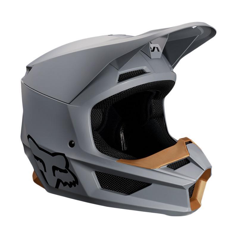 5. Fox V1 Matte Helm Motocross - Stone 21828-224