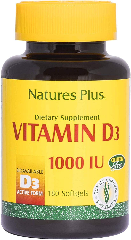 1. Nature's Plus Vitamin D3 1000 IU
