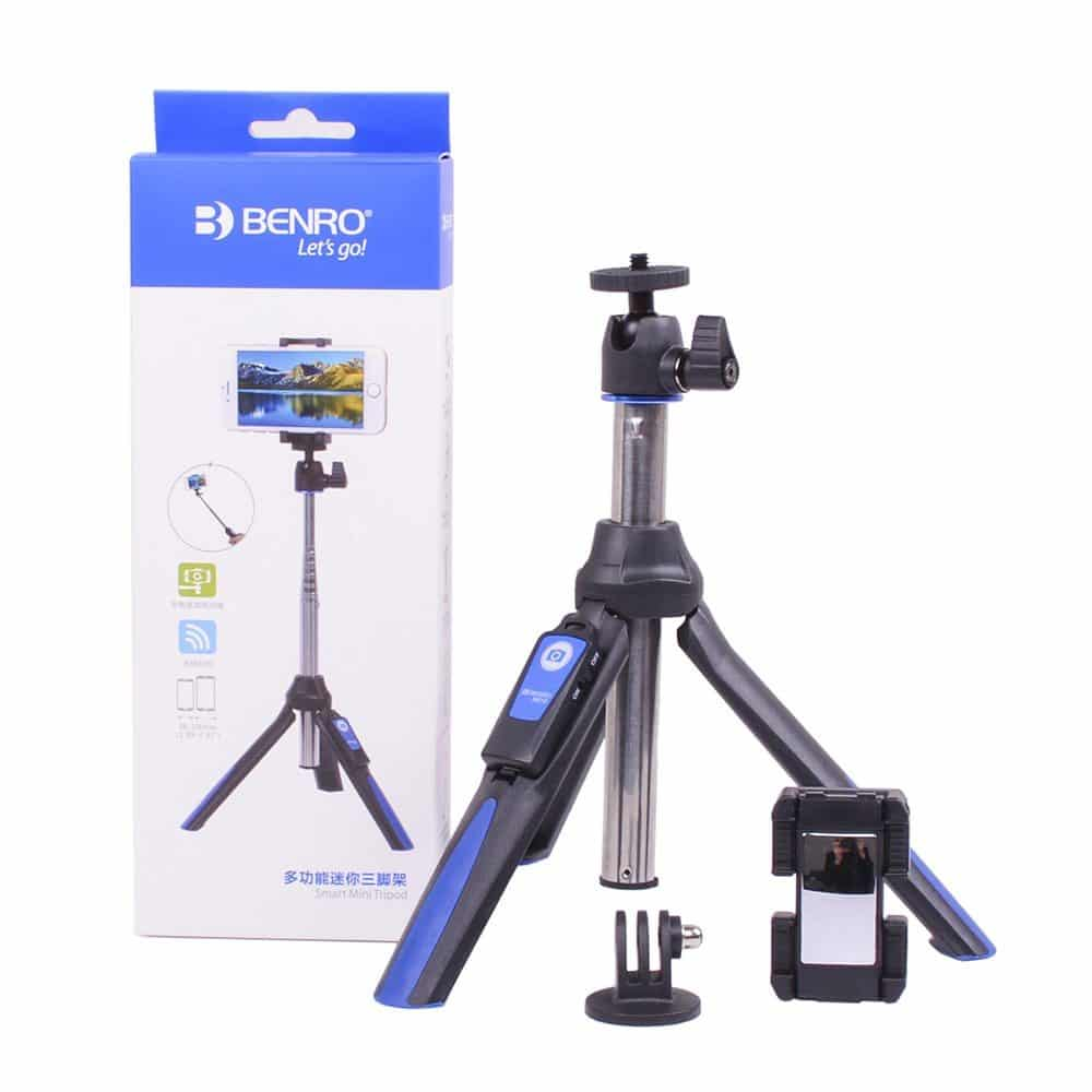 Benro-MK10-mini-tripod-selfie-stick