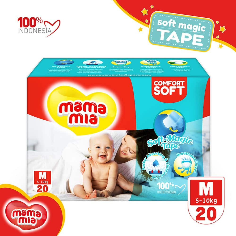 MamamiaˇBaby-Diapers-Soft-Magic-Tape