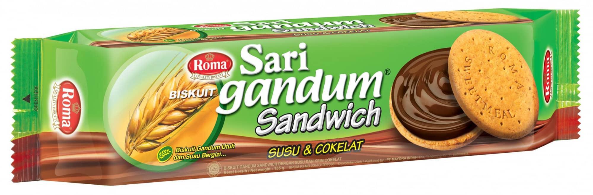 Roma-Biskuit-Sari-Gandum-Sandwich-Coklat