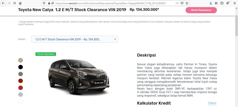 Toyota New Calya 1.2