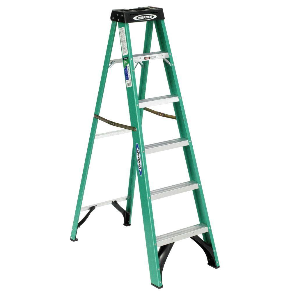 Werner-6ft-Type-II-Fiberglass-Step-Ladder