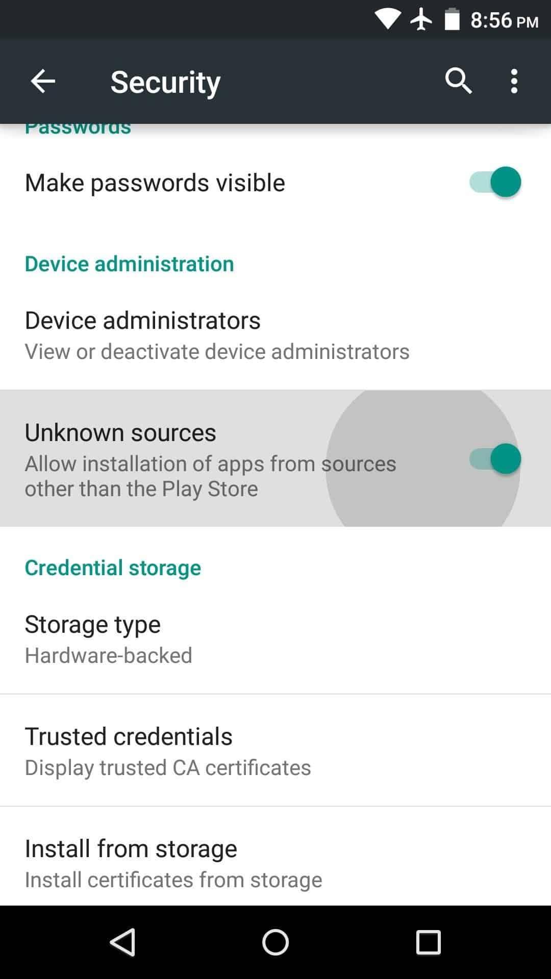 Gulir-ke-bawah-dan-temukan-Install-from-Unknown-Source-geser-panel-agar-bagian-ini-aktif